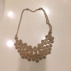 Grey and Gold Bubble necklace